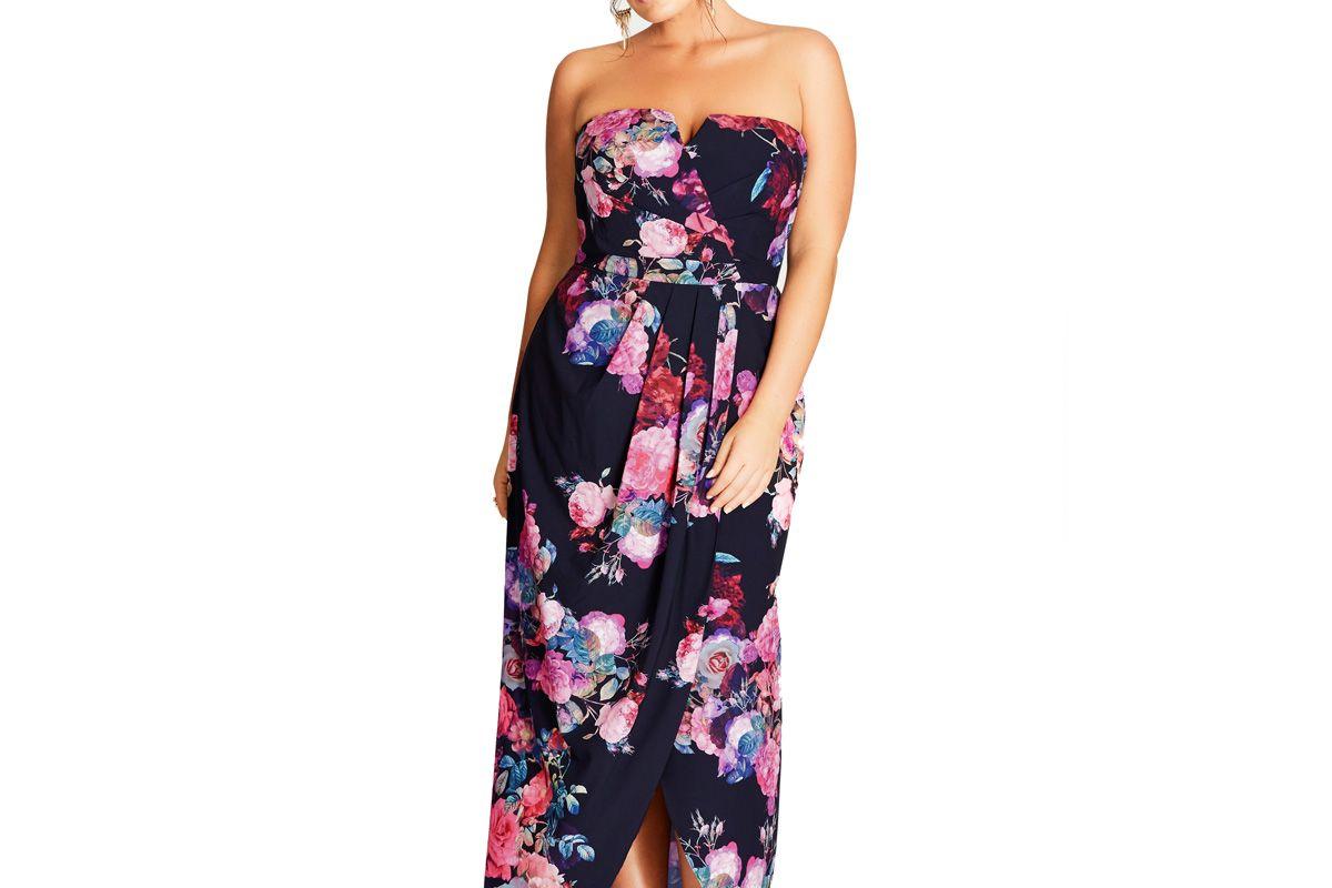 Romantic Rose Maxi Dress
