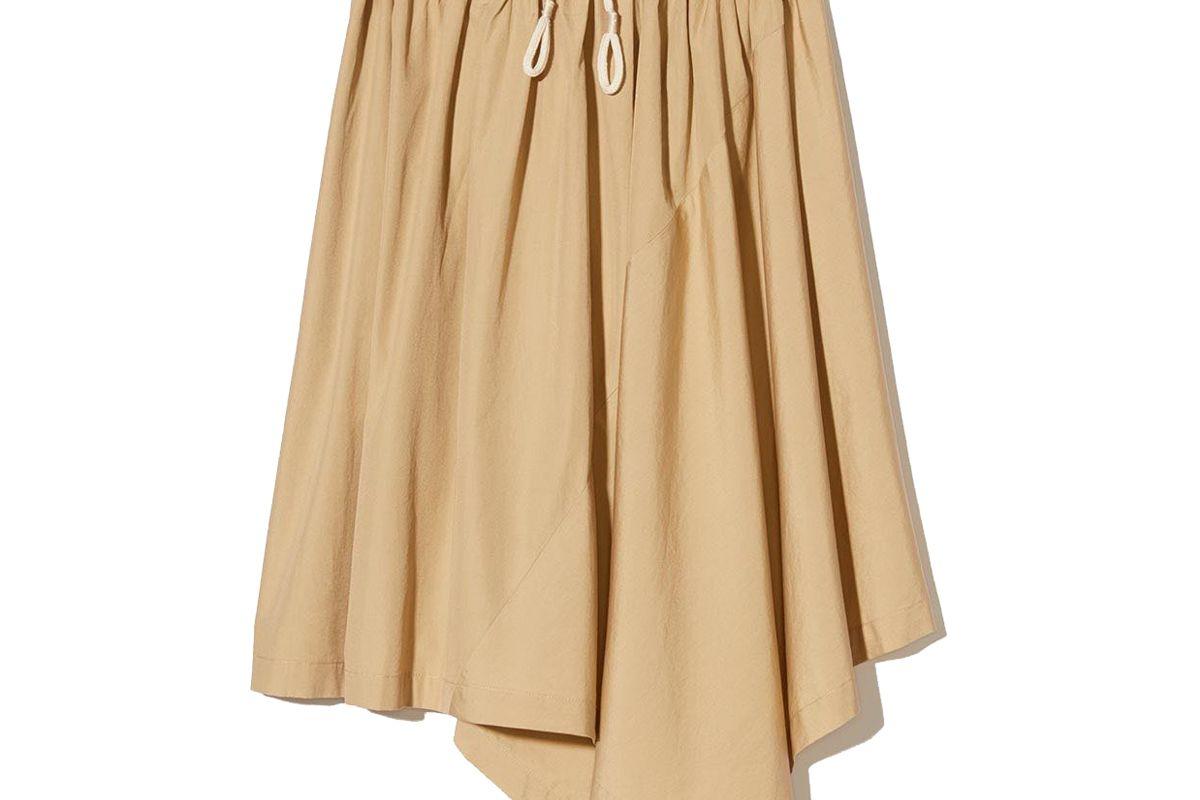 vince asymmetric cotton skirt