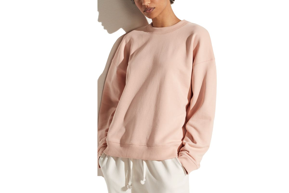 vince french terry long sleeve pullover