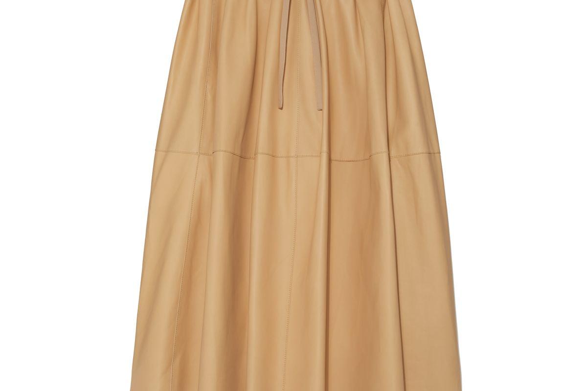 vince paneled leather skirt