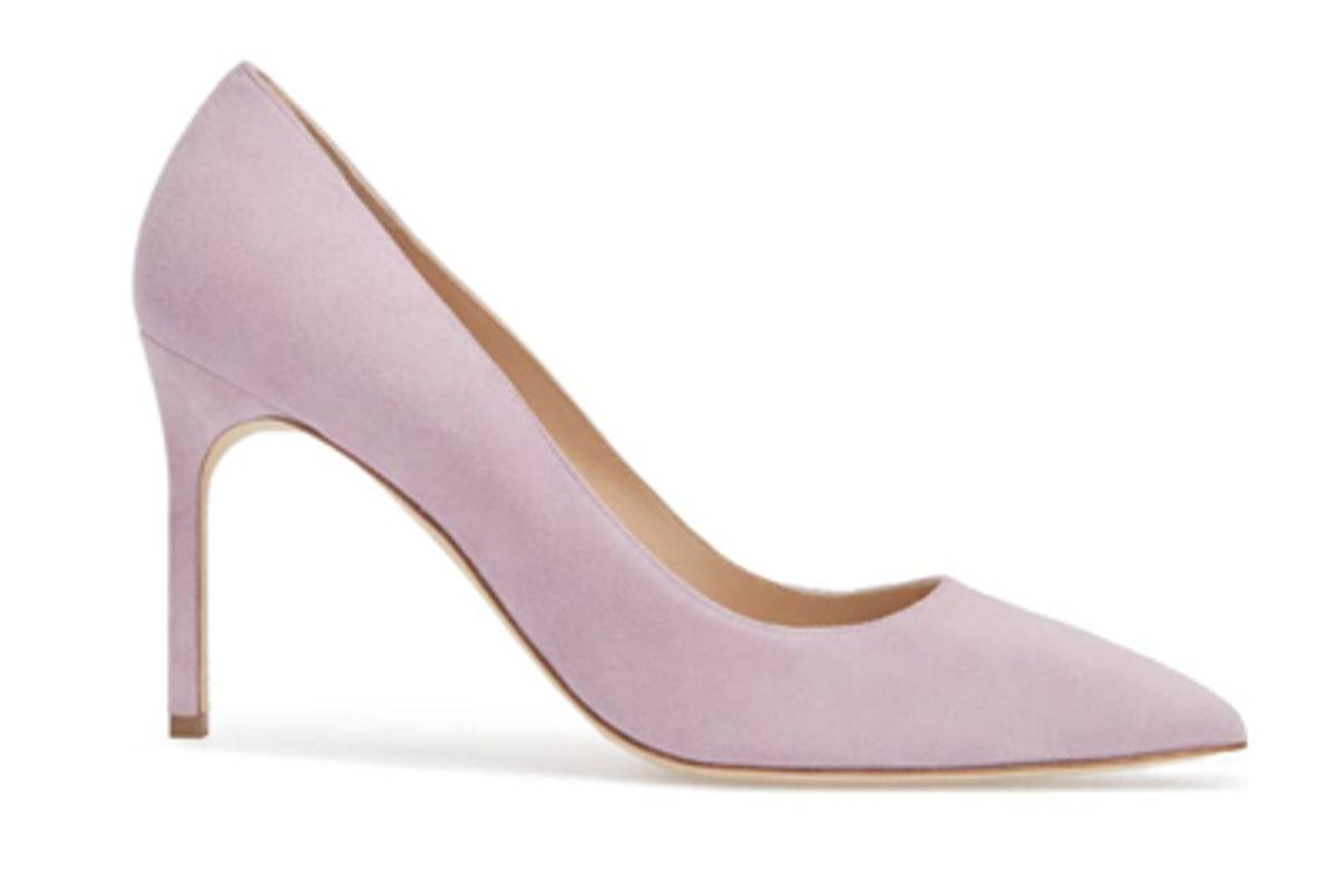 manolo blahnik light purple heels