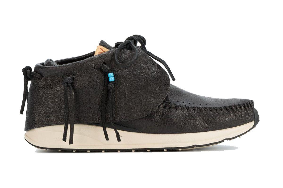 visvim black fbt red deer sneakers