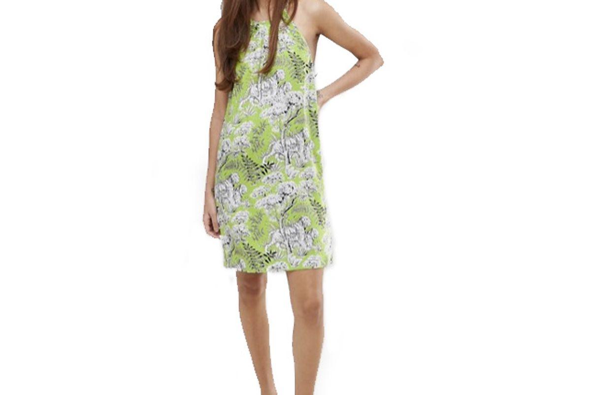 Tiger Print Halter Dress