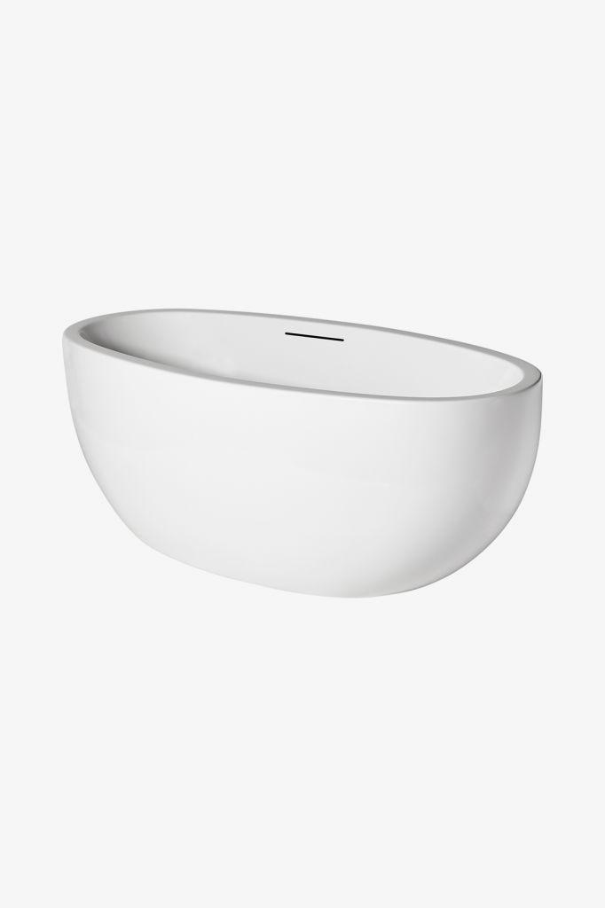 waterworks styli freestanding acrylic oval bathtub