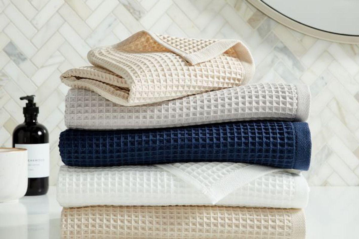 west elm organic waffle towels