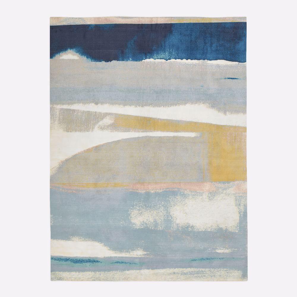 west elm sun kissed landscape rug