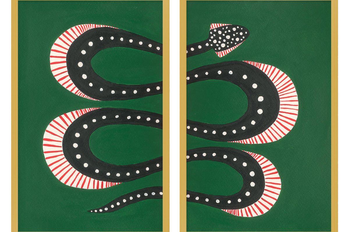 willa heart medium zuccini the snake set of 2 print