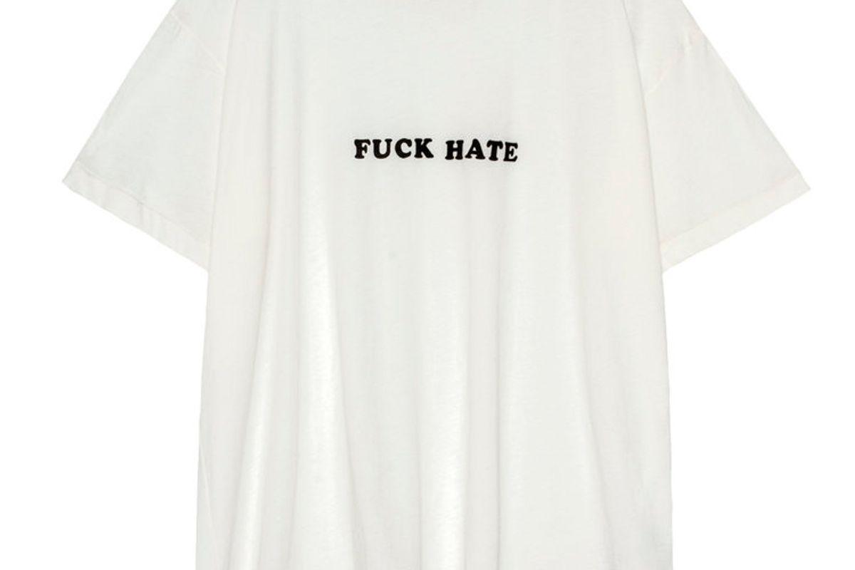 Fuck Hate T in White