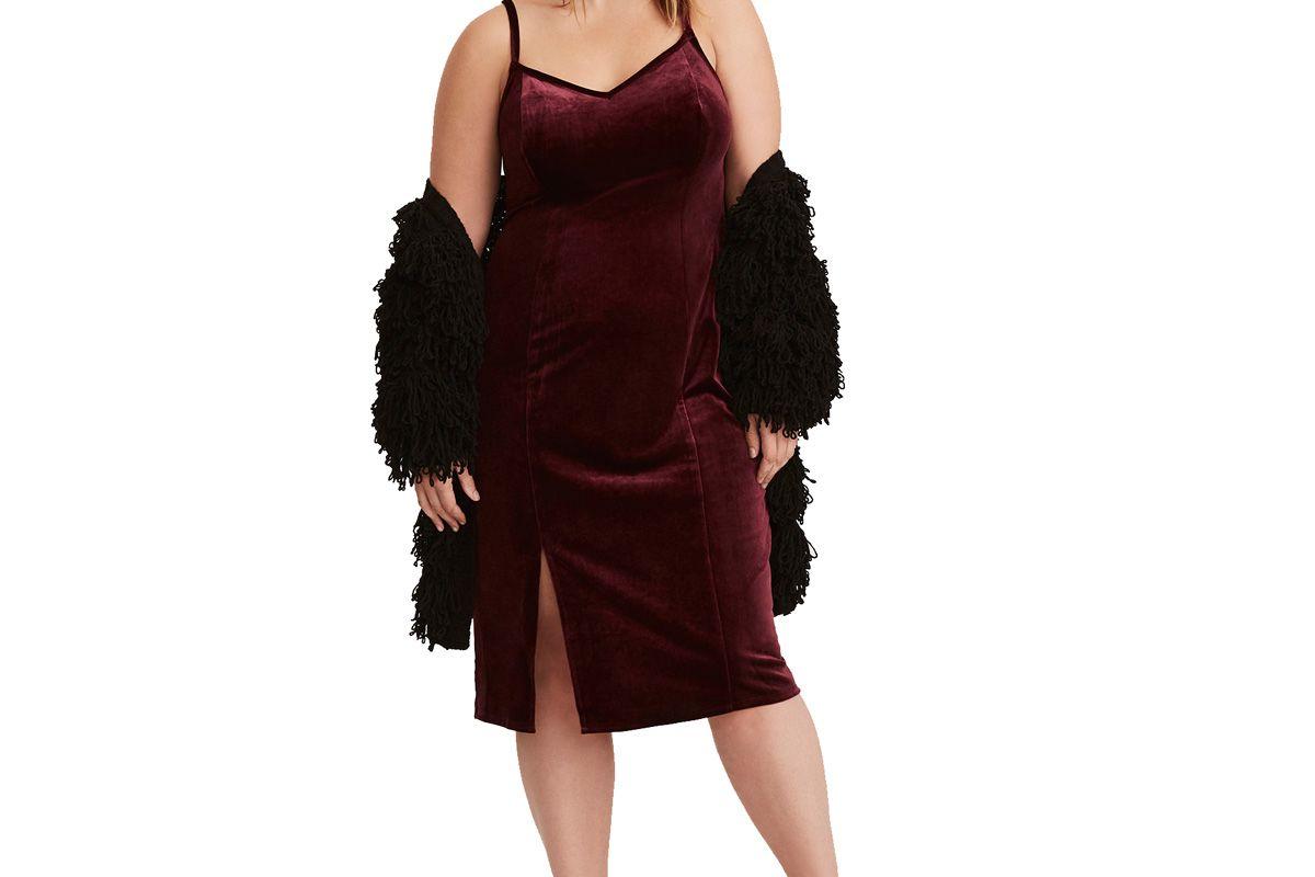 Special Occasion Wine Velvet Slip Dress