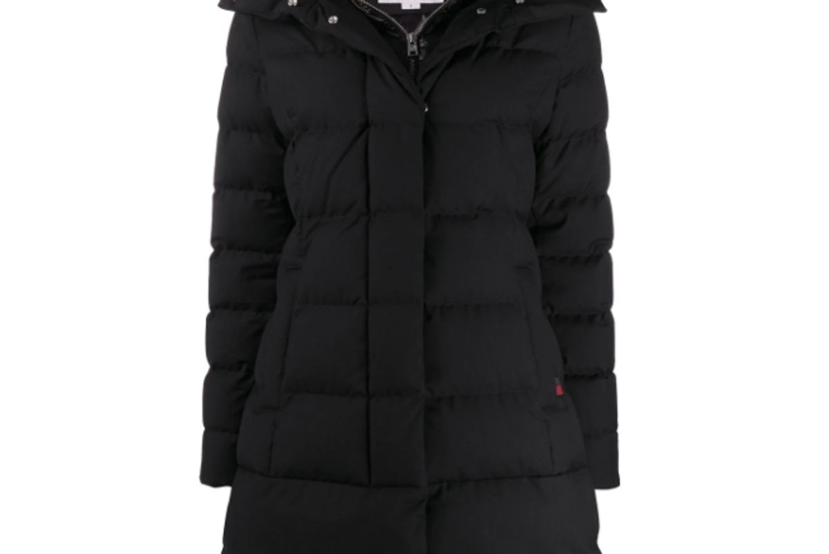 woolrich padded mid length coat