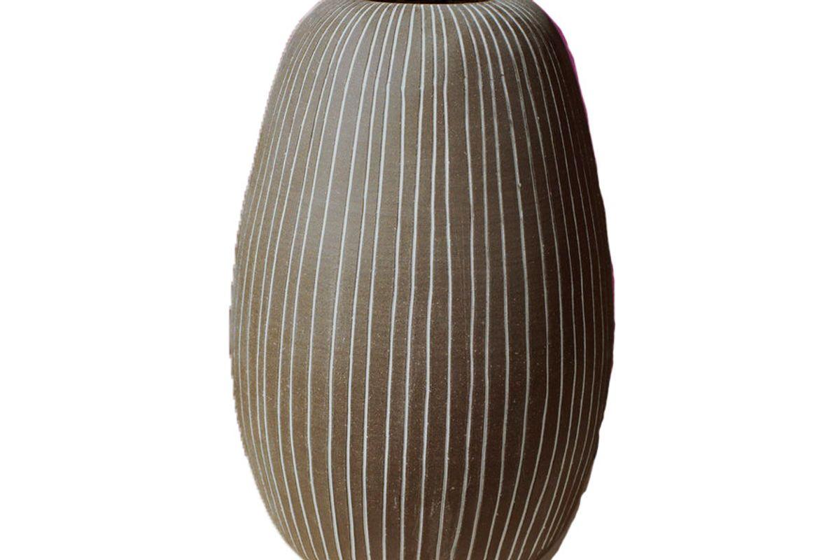 workaday handmade large pen striped vase