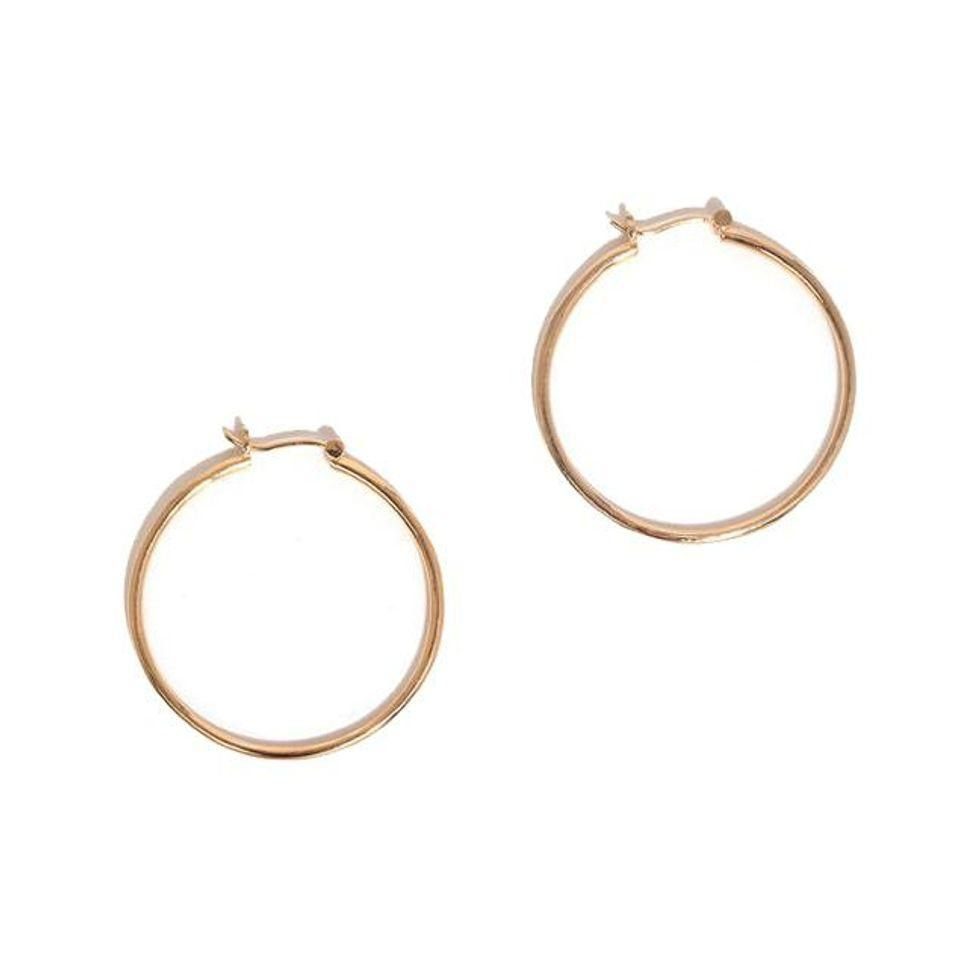 young frankk bailey hoop earrings