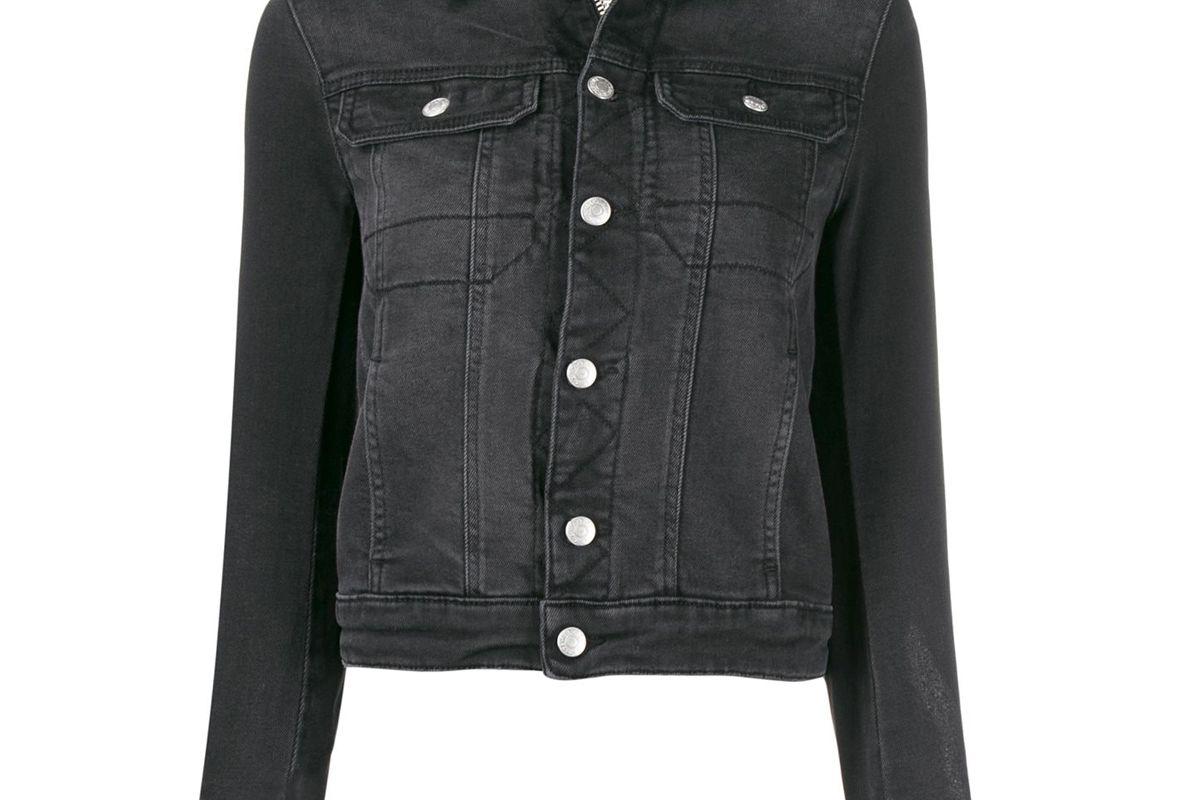 zadig and voltaire punk embellished custom denim jacket