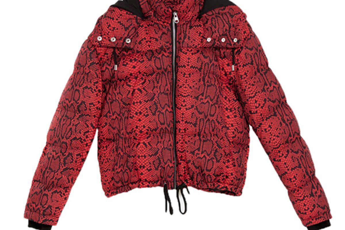 zara animal print puffer jacket