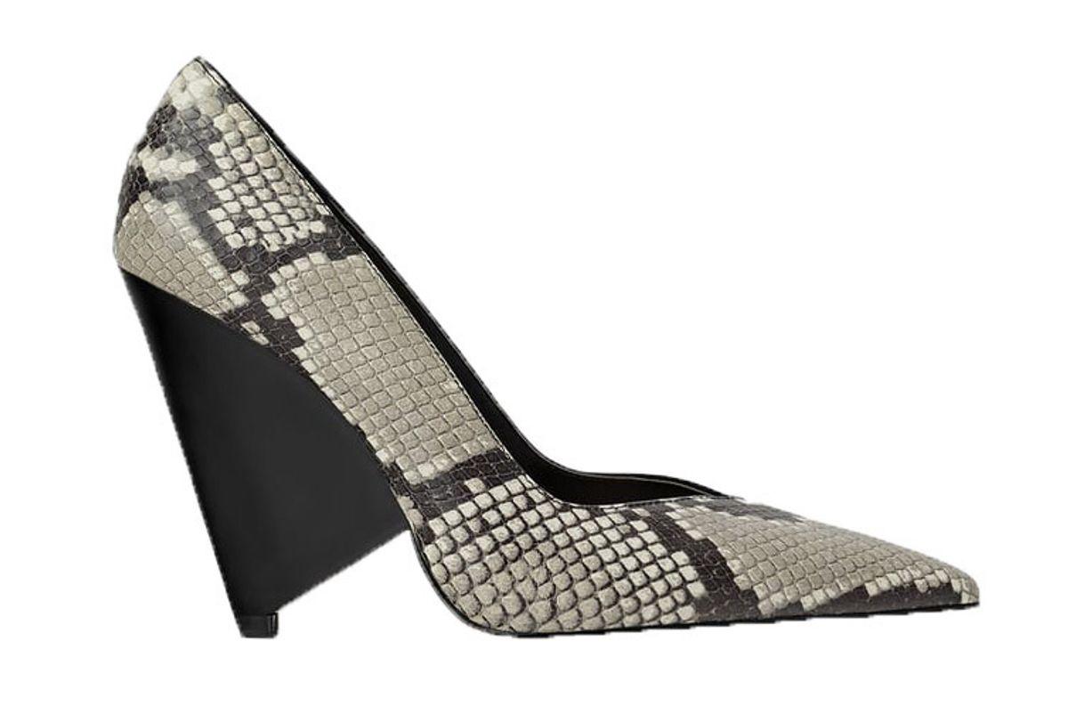 zara asymmetric heeled animal print shoes