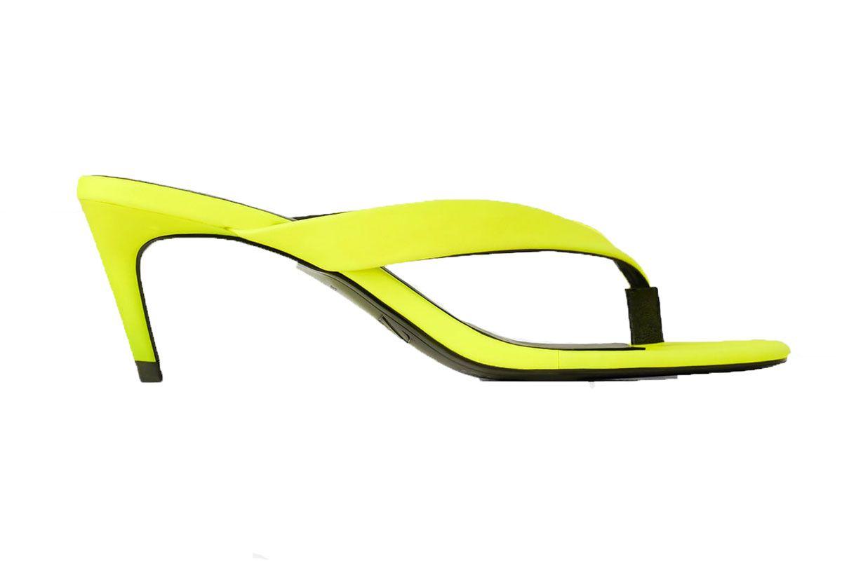 zara fluorescent kitten heel sandals