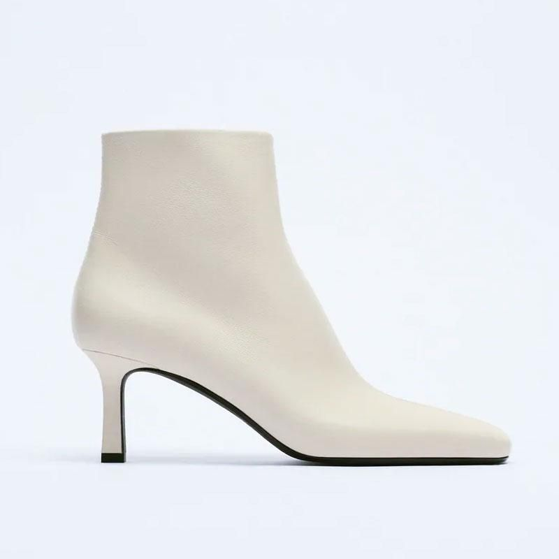 zara high heel leather ankle boot