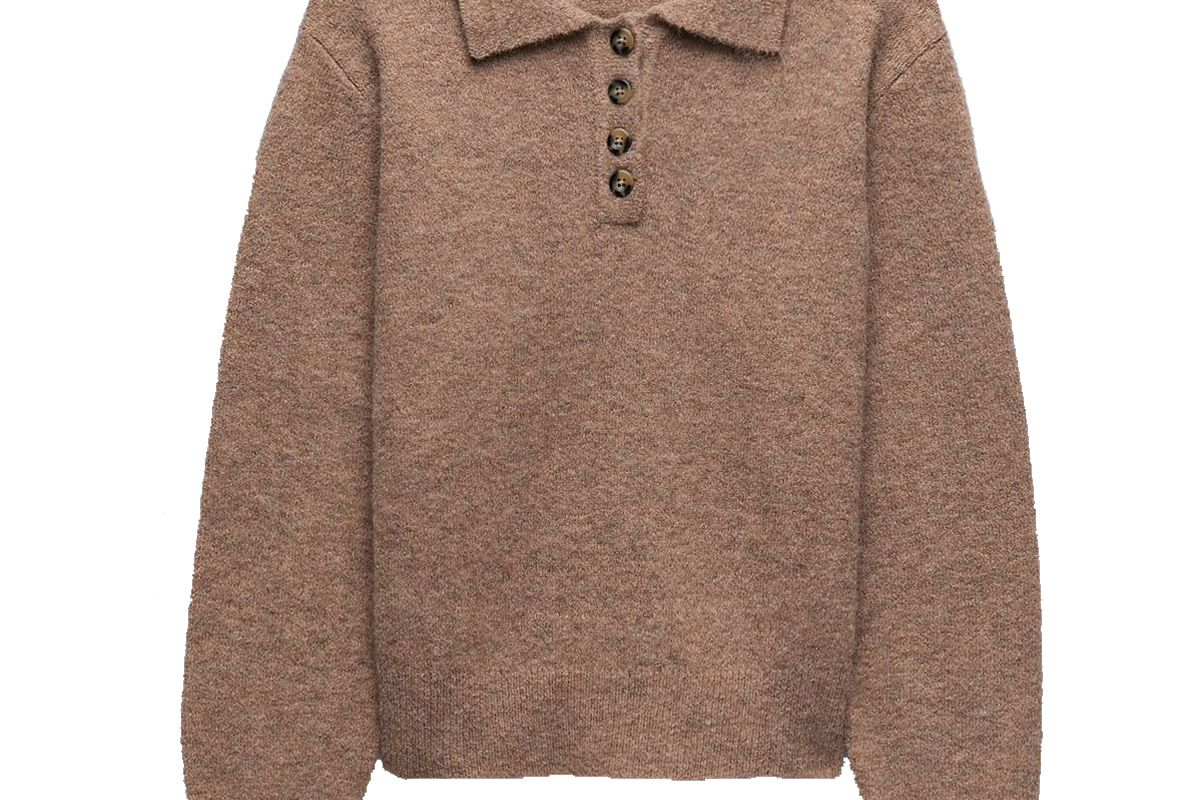 zara knit polo sweater