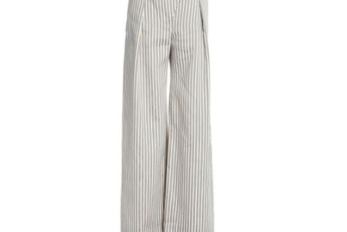 zimmerman pinstriped cotton blend wide leg pants
