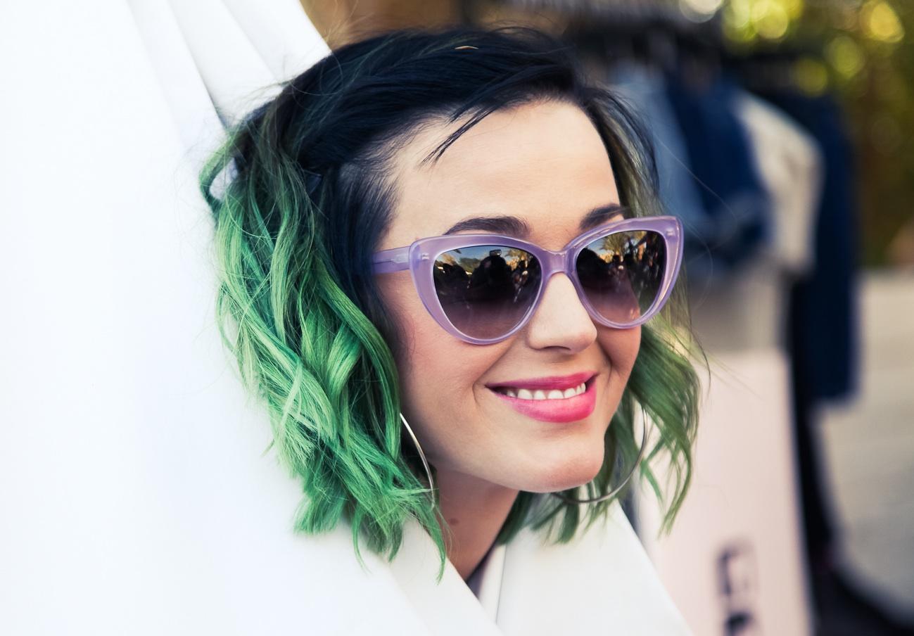 Katy Perry (& her hair) do Coachella