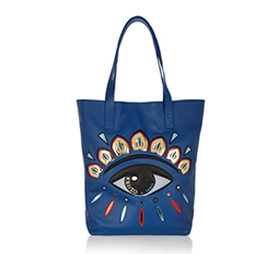 Eye-Embellished Leather Tote
