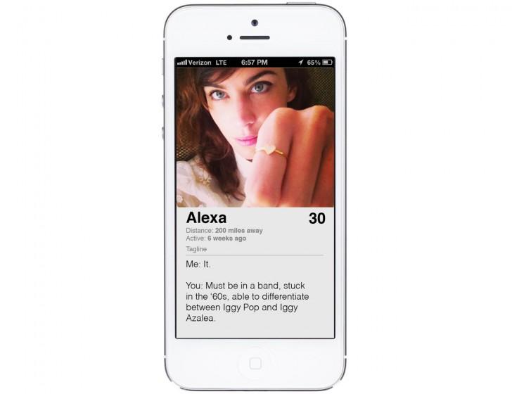 Alexa Chung Tinder Profile