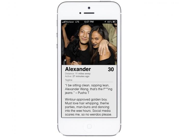 Alexander Wang Tinder Profile