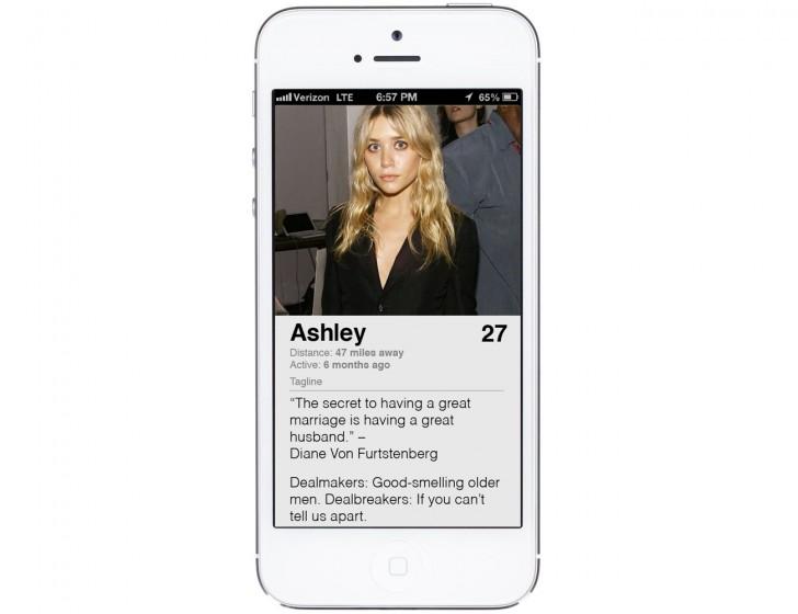 Ashley Olsen Tinder Profile