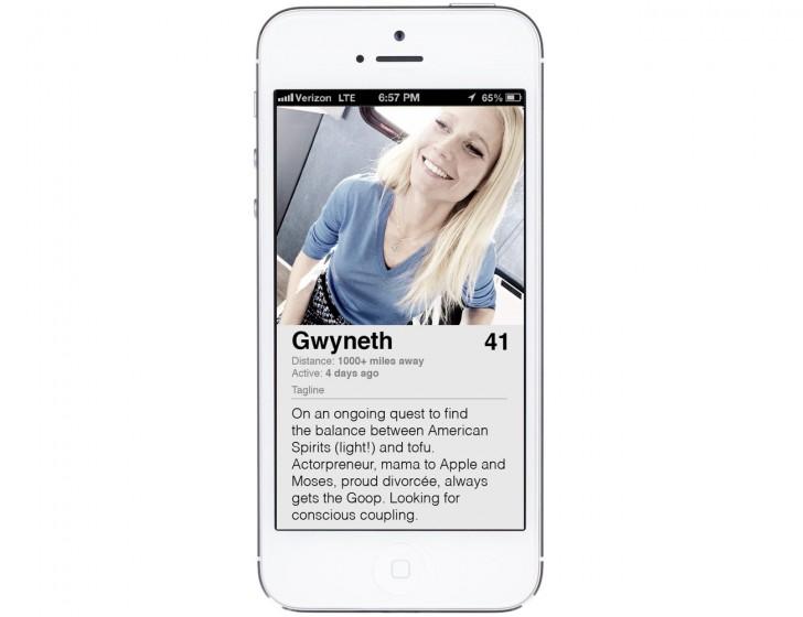 Gwyneth Paltrow Tinder Profile