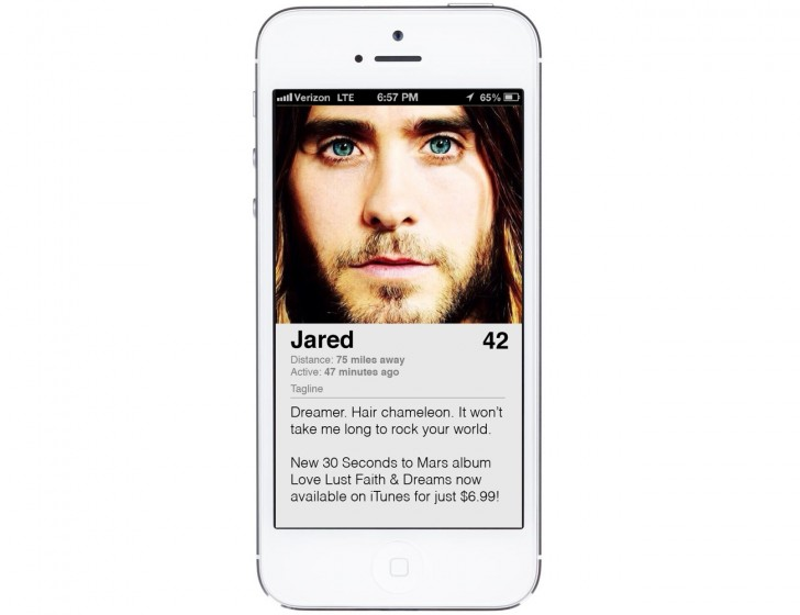 Jared Leto Tinder Profile
