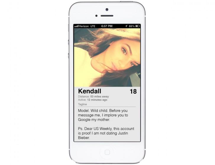 Kendall Jenner Tinder Profile