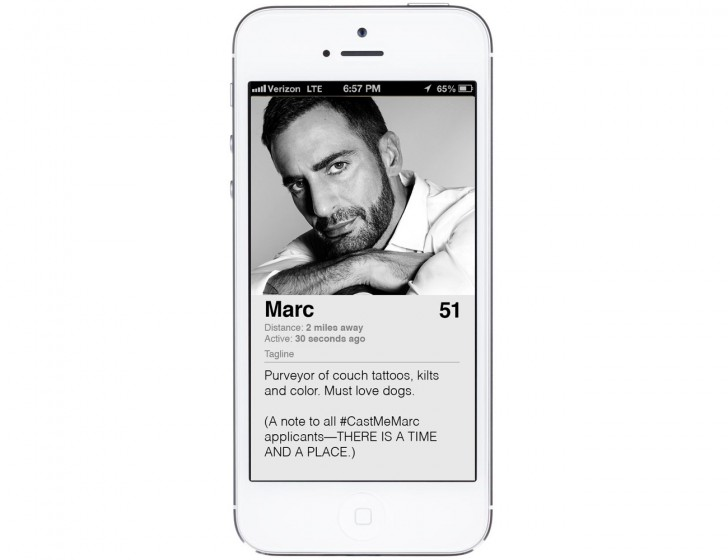 Marc Jacobs Tinder Profile