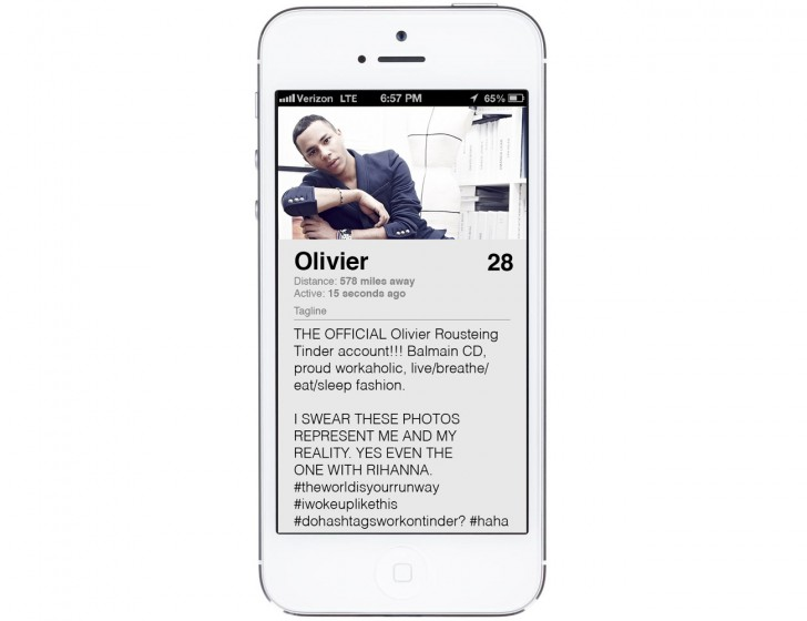 Olivier Rousteing Tinder Profile