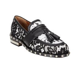 Macramé Lace Tassel Loafers