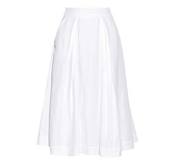 Slub-Woven Mini Skirt
