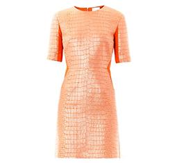 Bi-Panel Jacquard Dress