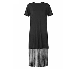 Fringed Jersey Dress