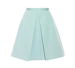 Katia Cotton and Silk-Blend Faille Skirt