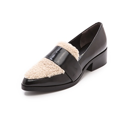 Quinn Loafers with Shearling Trim