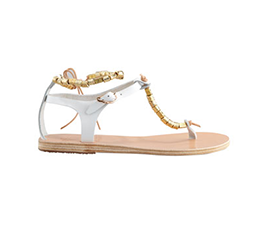 Chrysso Beaded Vachetta Thong Sandal
