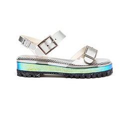 Holographic Chunky Tread Sandal