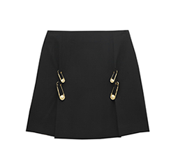 Safety-pin Embellished Mini Skirt