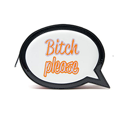 'Bitch Please' Bubble Clutch