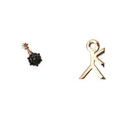 Bomb Rose-Gold Earrings