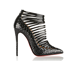 Gortik 120 Python and Patent-Leather Ankle Boots