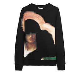Pixel Madonna Printed Sweatshirt