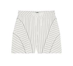 Pinstriped Crepe Shorts