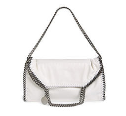 'Small Falabella' Shaggy Deer Foldover Tote
