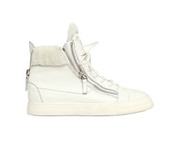 Leather & Faux Shearling Sneaker