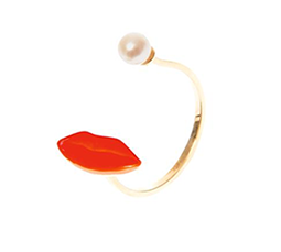 Pearl, Gold & Enamel Ring